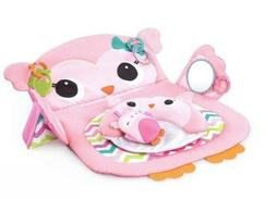 BRIGHT STARTS TUMMY TIME PROP & PLAY ACTIVITY MAT, OWL *NEW