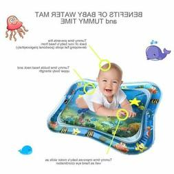 US Splashing Kids Inflatable Tummy Time Water Play Mat Baby