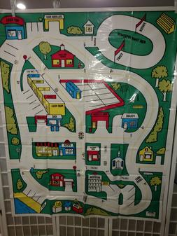 Vintage 1981 Kazooco Mini-Car Motor Mat Play Mat Map City 60