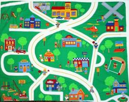 Cranston VIP ~ Vintage City Roadway ~ 100% Cotton  Play mat