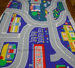 Vintage Princess Fabrics Panel Play Mat Town City Road Stree