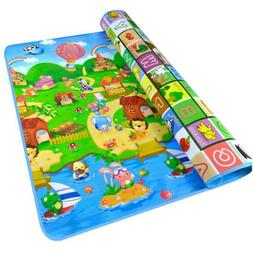 Waterproof Floor Play Mat Rug Child Infant Baby Kids Crawlin