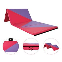 "Homevibes 4' x 8' x 2"" Gymnastics Mat Thick Folding Panel Tu"