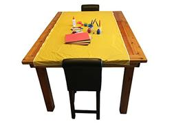 "KinderMat Yellow Mess Mat, 38"" x 80"", Protect the Floor"