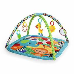 Bright Starts Zippy Zoo Activity Gym Musical Play Mat Toys T